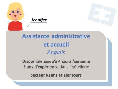 Jennifer - Assistante administrative et accueil