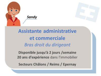 Sandy - Assistante administrative et commerciale