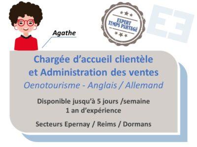 Agathe - Chargée d'accueil clientèle & ADV