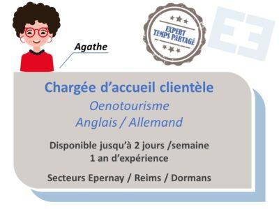 Agathe - Chargée d'accueil clientèle