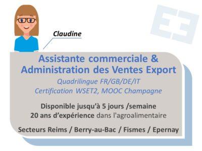 Claudine - Assistante commerciale et Administration des Ventes Export
