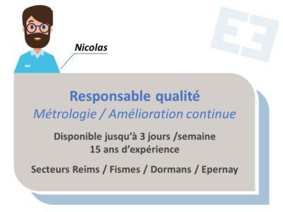 Nicolas - Responsable Qualité