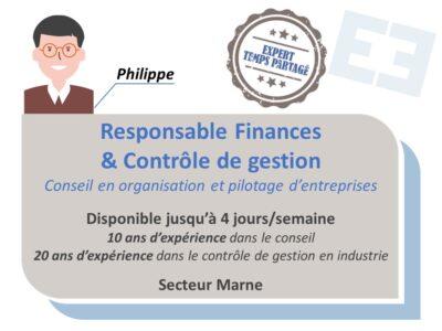 Philippe - Responsable Finances et Contrôle de gestion