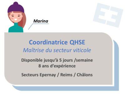 Marina - Coordinatrice QHSE